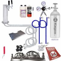 Ultimate Home Brew Two Keg Tap Faucet Tower DIY Kegerator Conversion Kit