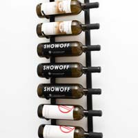 3' Wall Mount 9 Bottle Wine Rack - Satin Black Finish