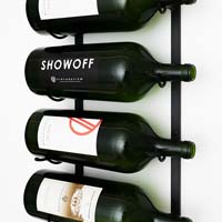 4-Bottle BIG Series Wine Rack - Black Satin Finish