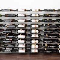 4' Evolution Extension System 81 Bottle Wine Display - Satin Black Finish