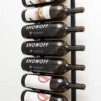 9 Magnum / Champagne Bottle Wine Rack - Black Chrome Finish