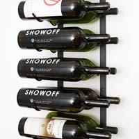 18 Magnum / Champagne Bottle Wine Rack - Black Chrome Finish