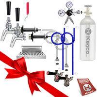 Premium Two Faucet Door Mount DIY Kegerator Keg Tap Conversion Kit - All SS Contact