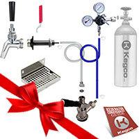 Premium Door Mount DIY Kegerator Keg Tap Conversion Kit - 100% Stainless Beer Contact
