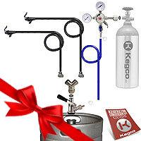 Double Faucet Party Kegerator Conversion Kit