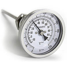 Dial Thermometer for Brew Kettles