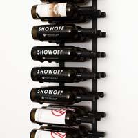 4' Wall Mount 36 Bottle Wine Rack - Black Chrome Finish