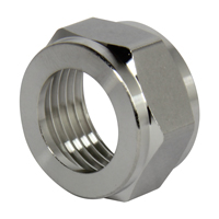 Chrome Coupling Hex Nut