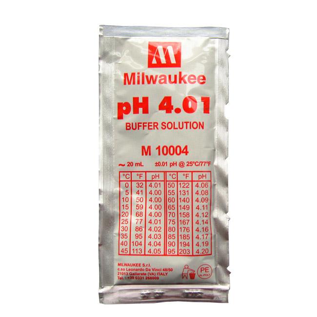 Milwaukee M10004B pH 4.01 Calibration Buffer Solution - 20 mL