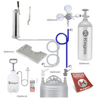 Ultimate Single Tap Tower Homebrew Kegerator Conversion Kit
