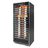 Private Reserve Series 188 Bottle Backlit Panel Commercial 300 Wine Cooler